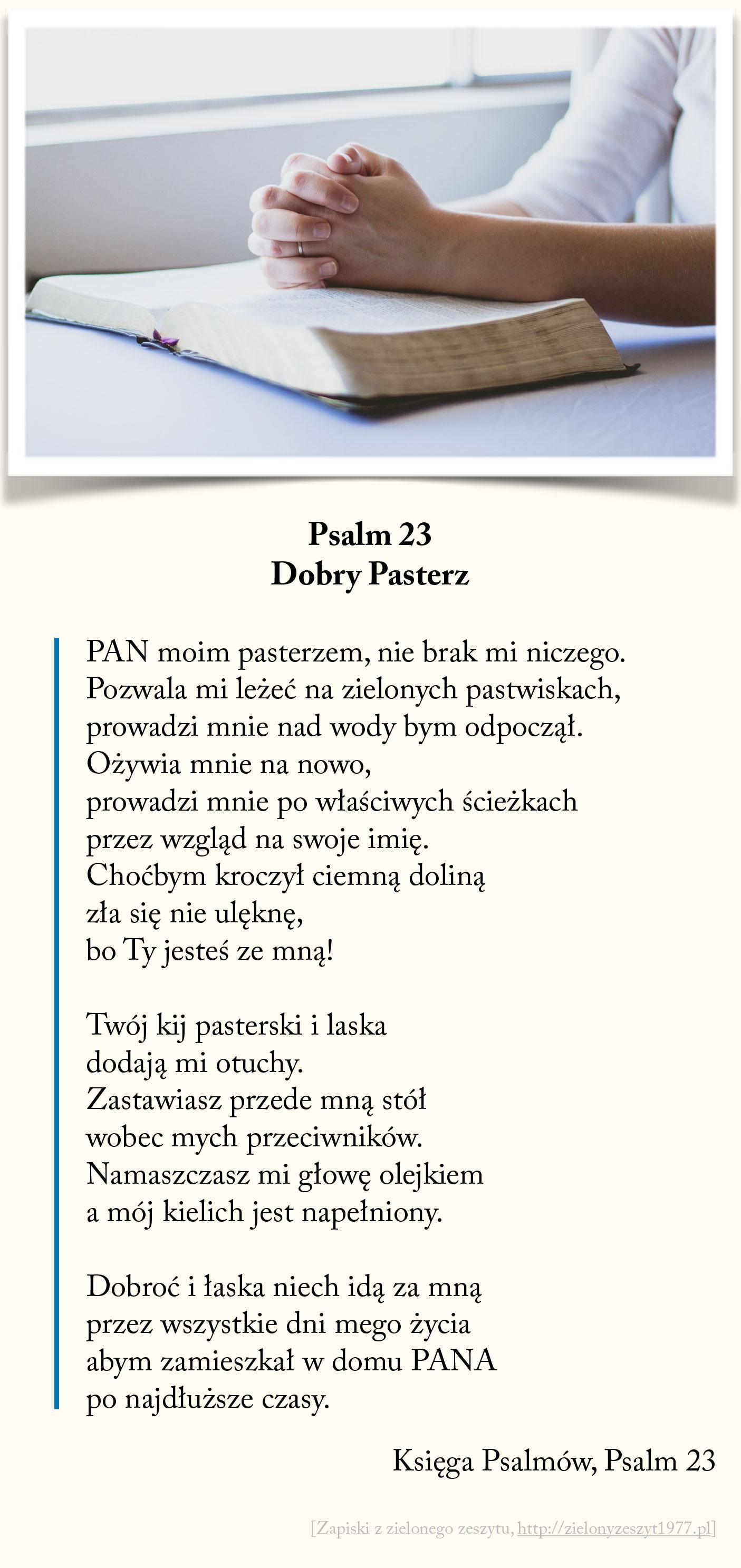 Dobry Pasterz, Psalm 23