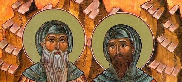 Św. Barsanufiusz i Jan z Gazy