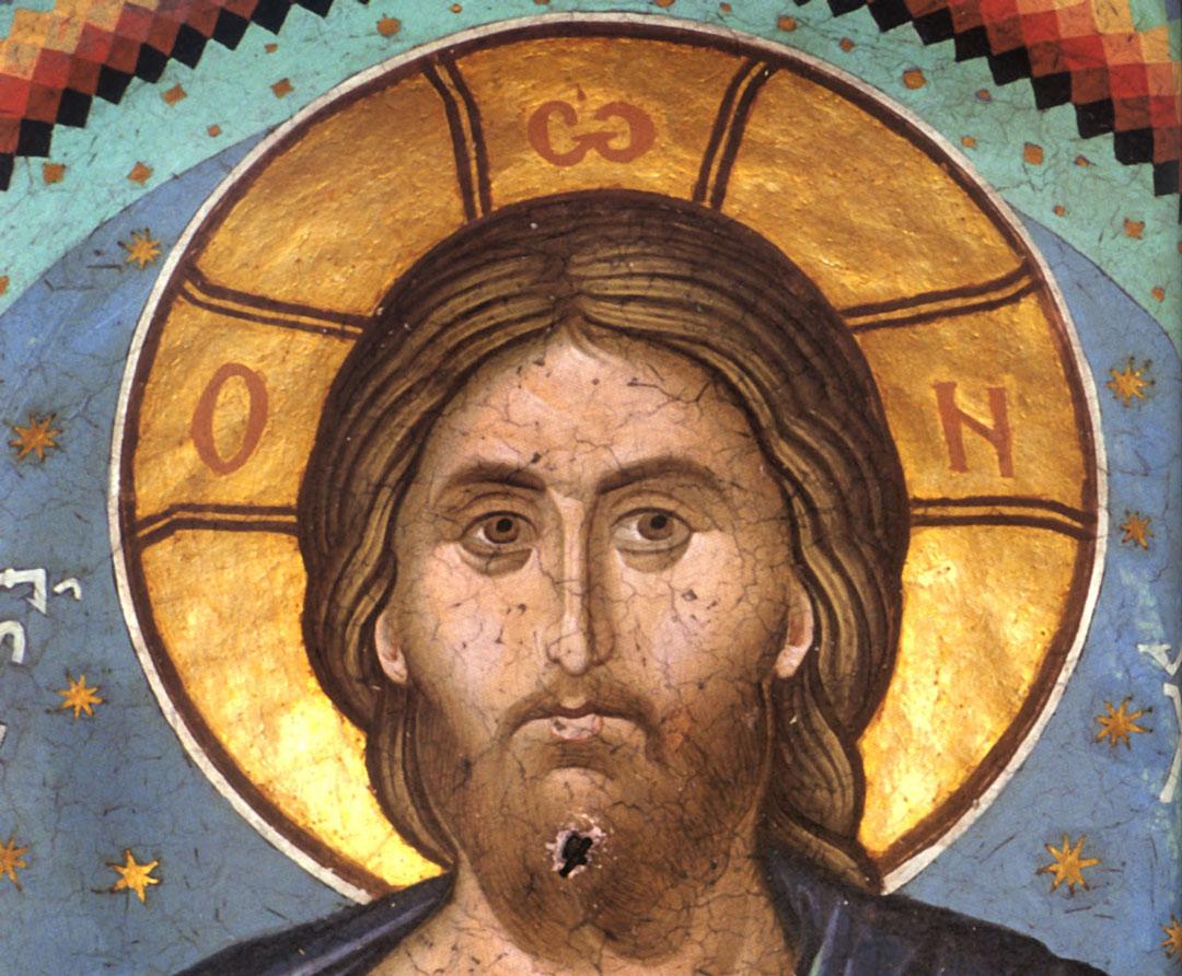 Niezmącony stan umysłu, Nicefor Pustelnik (Jezus Pantokrator, fresk, klasztor Watopedi, Góra Athos, Grecja)