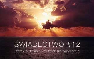 Świadectwo #12 – Jestem tu tylko po to, by pełnić Twoją wolę (moje nawrócenie)