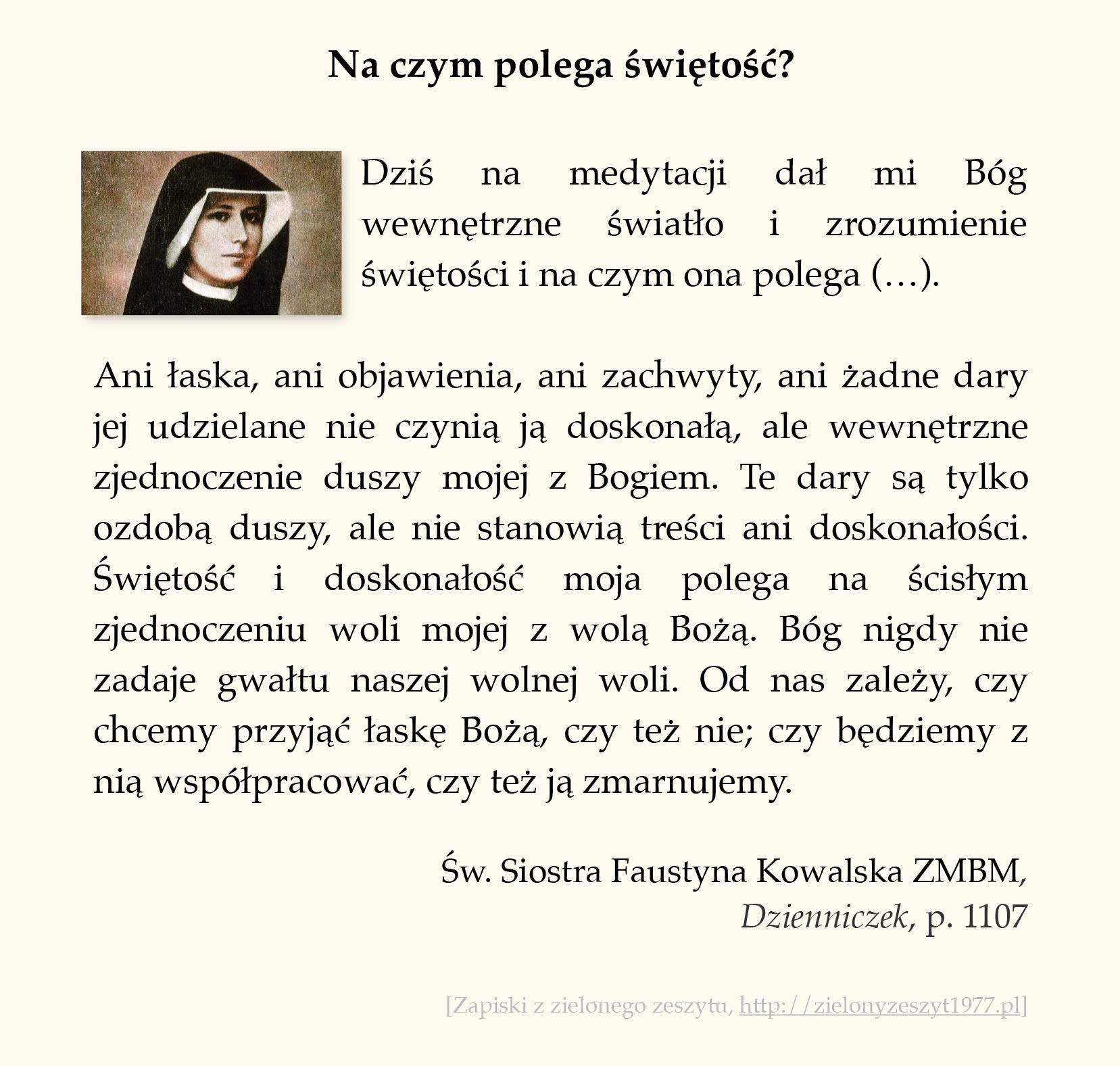 Na czym polega świętość? św. Faustyna Kowalska