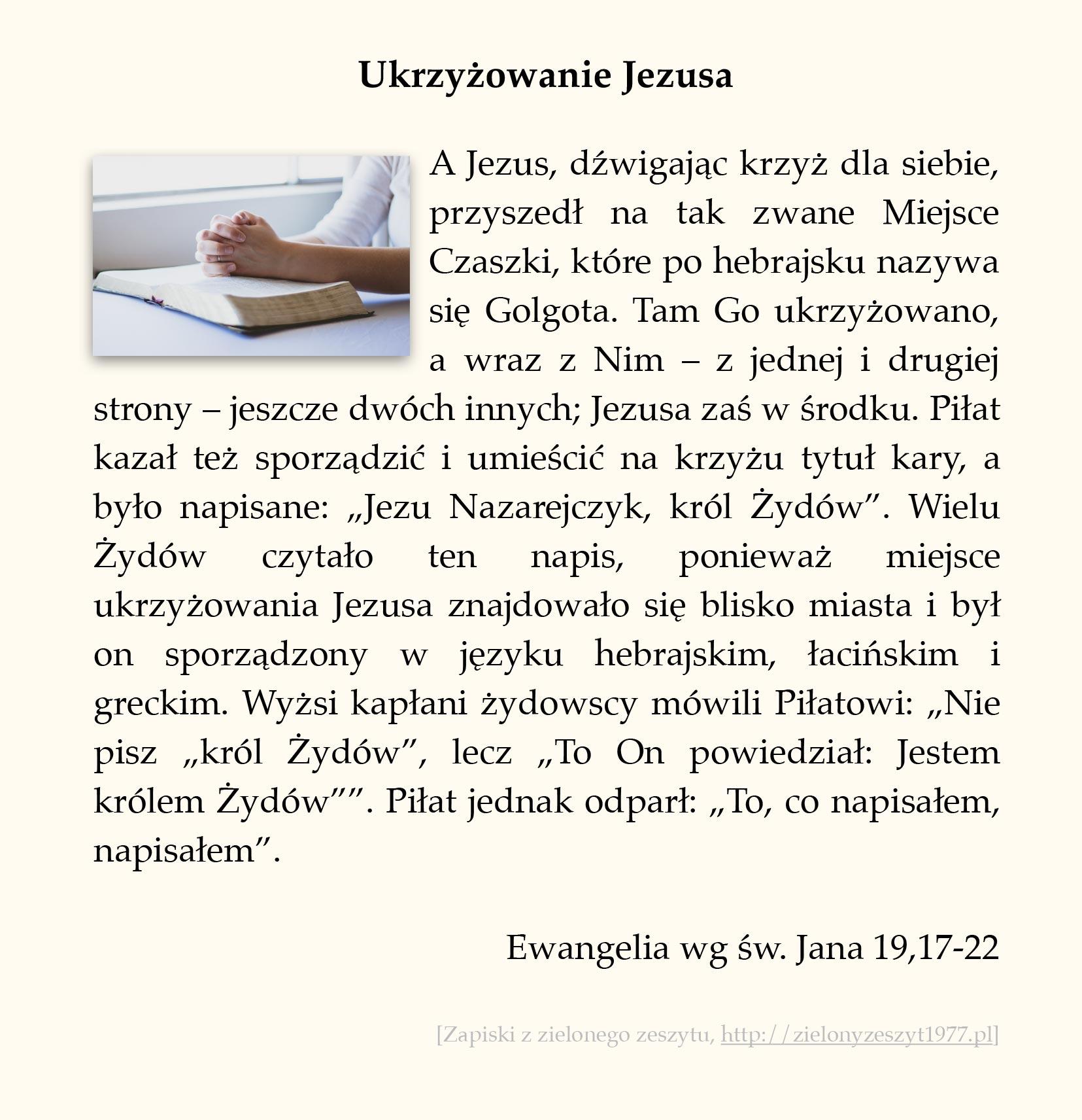 Ukrzyżowanie Jezusa; Ewangelia wg św. Jana (#92)