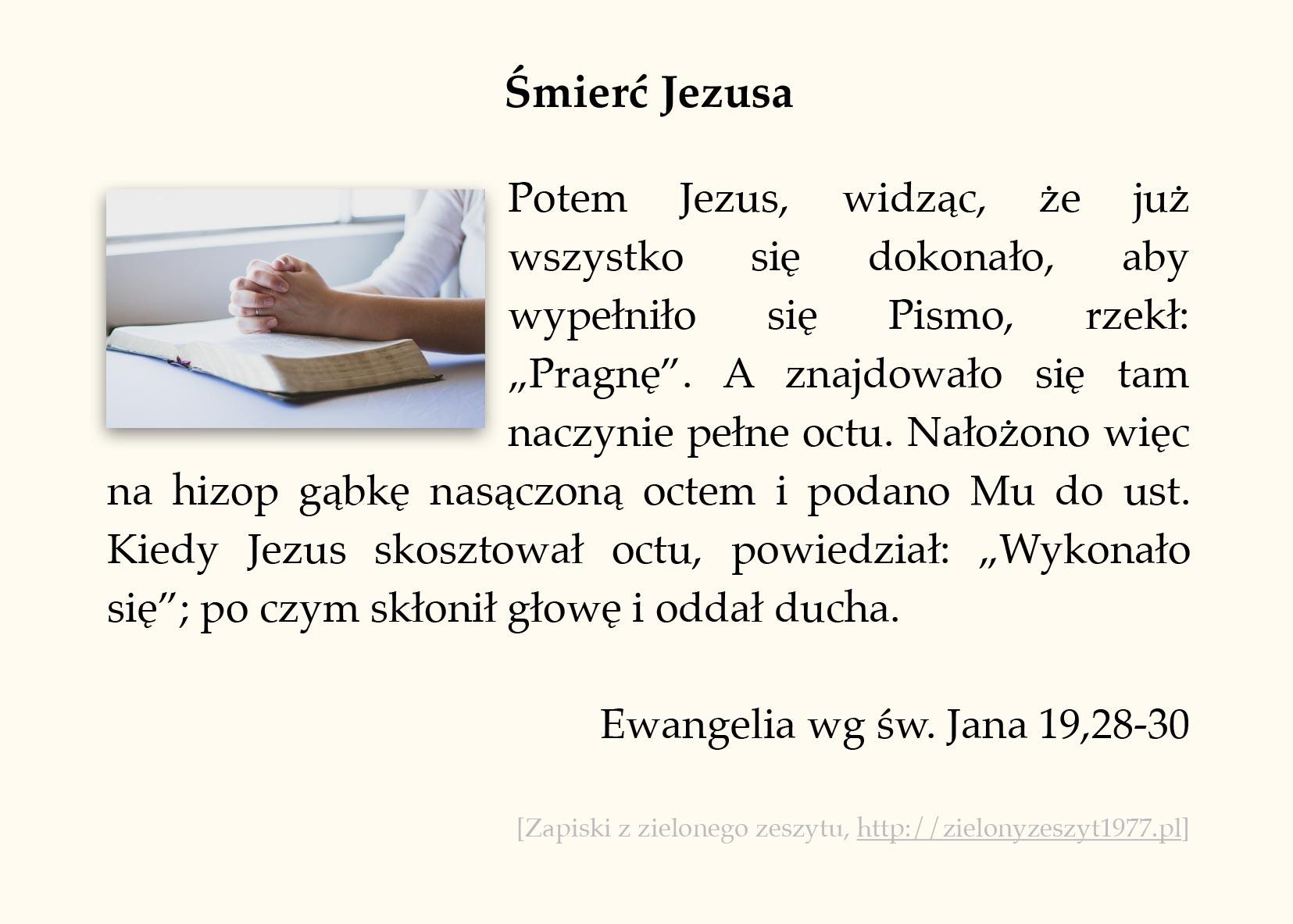 Śmierć Jezusa; Ewangelia wg św. Jana (#95)
