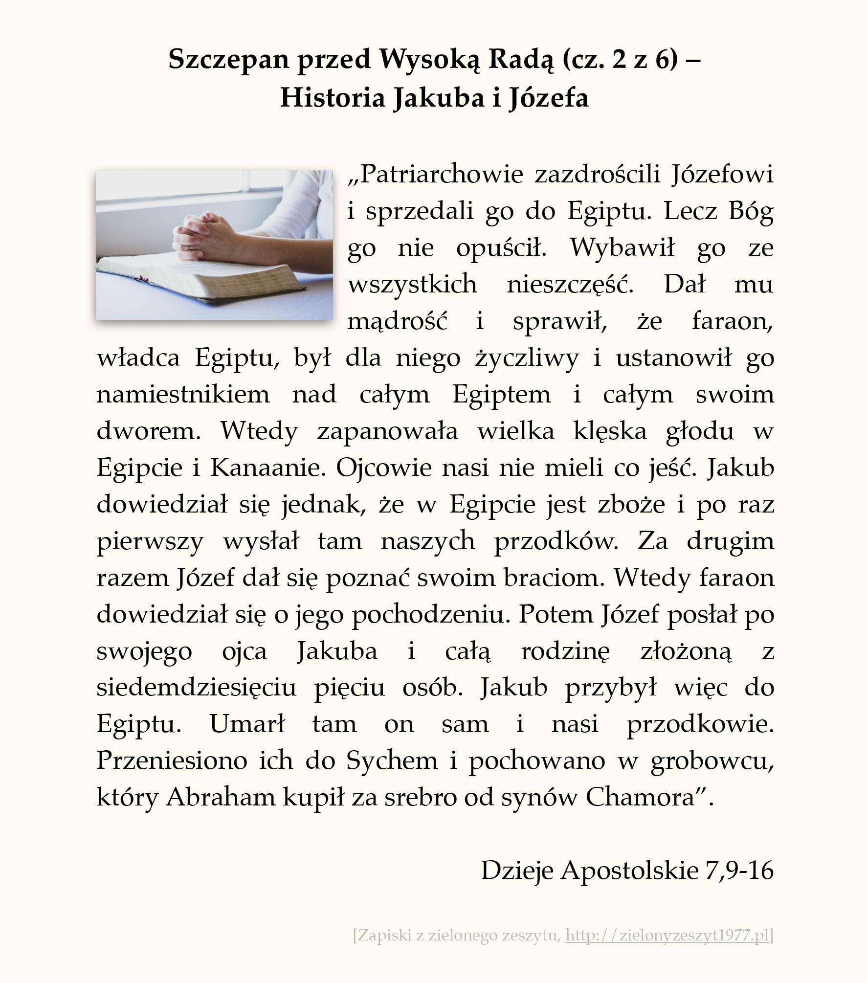 Szczepan przed Wysoką Radą (cz. 2 z 6) – Historia Jakuba i Józefa; Dzieje Apostolskie (#28)