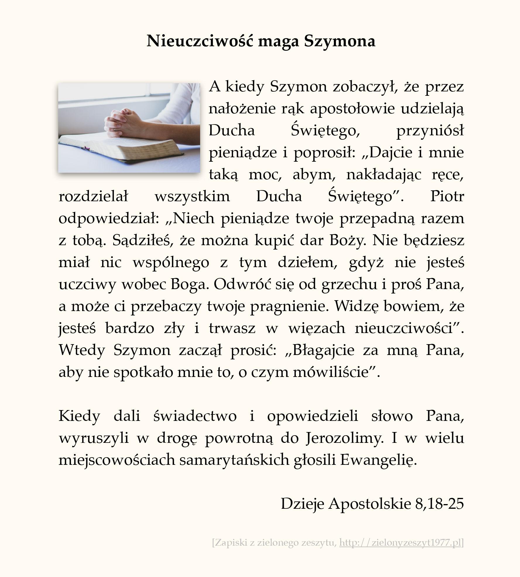 Nieuczciwość maga Szymona; Dzieje Apostolskie (#37)