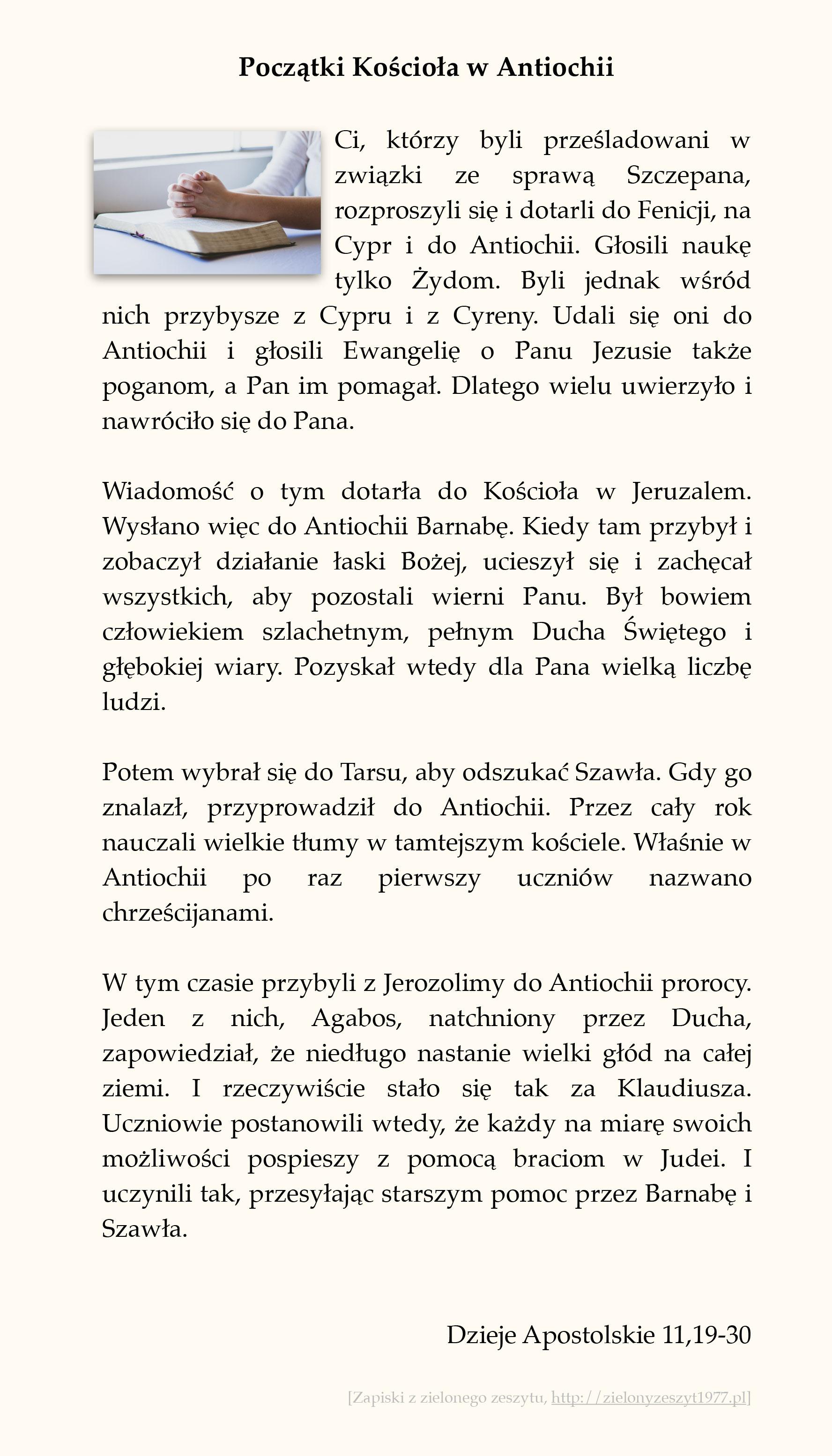 Początki Kościoła w Antiochii; Dzieje Apostolskie (#52)