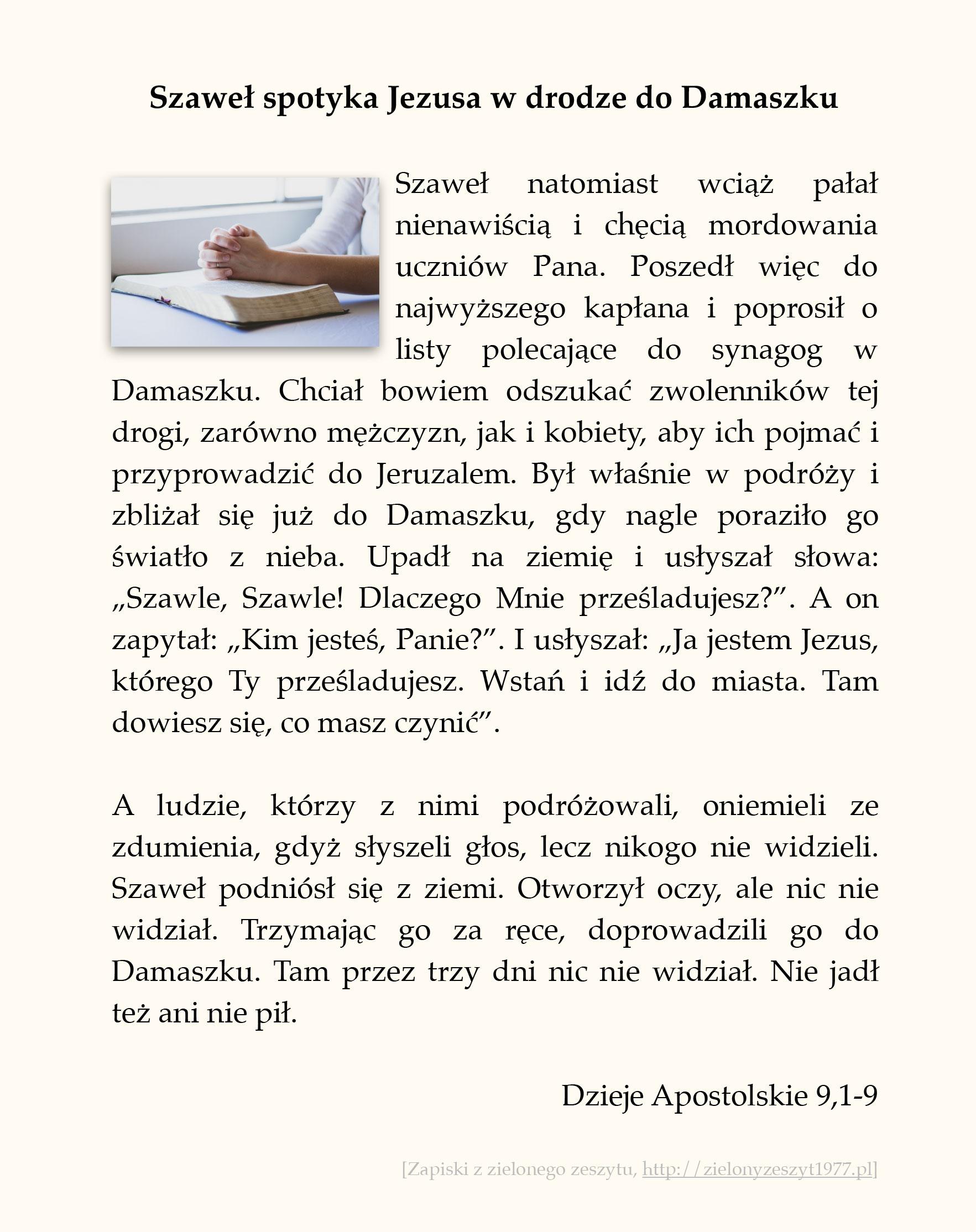 Szaweł spotyka Jezusa w drodze do Damaszku; Dzieje Apostolskie (#39)