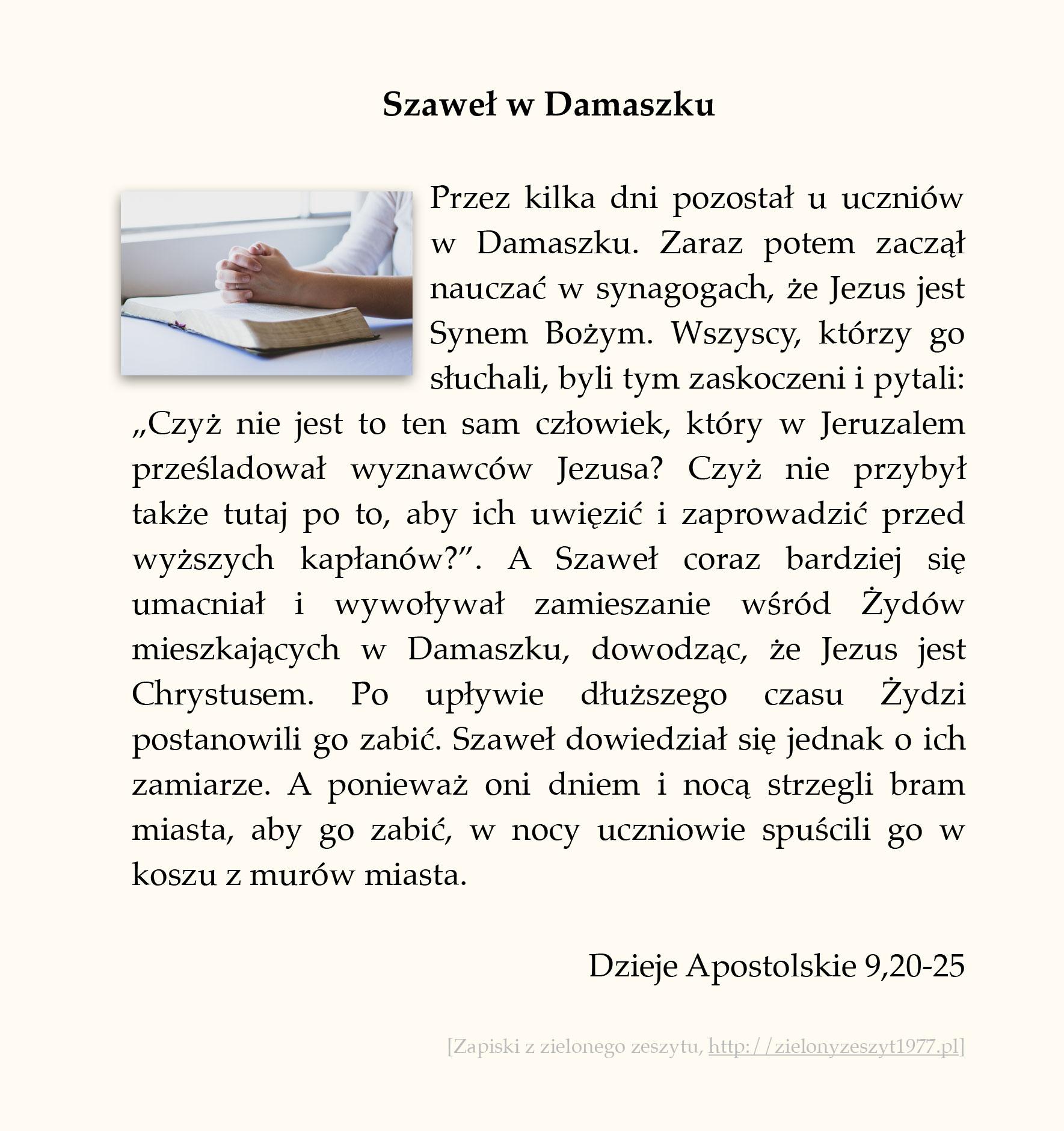 Szaweł w Damaszku; Dzieje Apostolskie (#41)