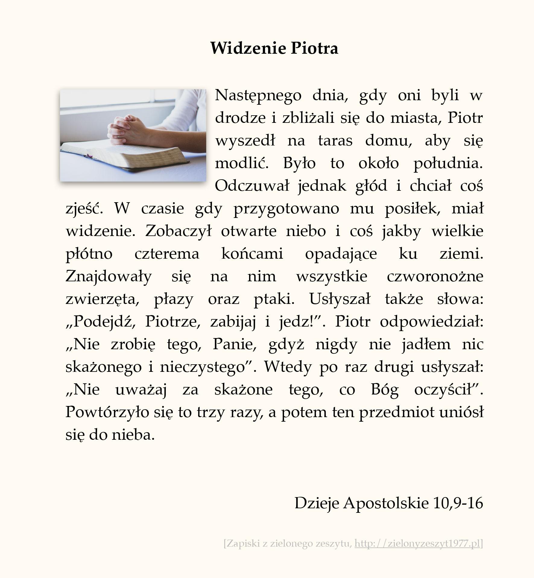 Widzenie Piotra; Dzieje Apostolskie (#46)