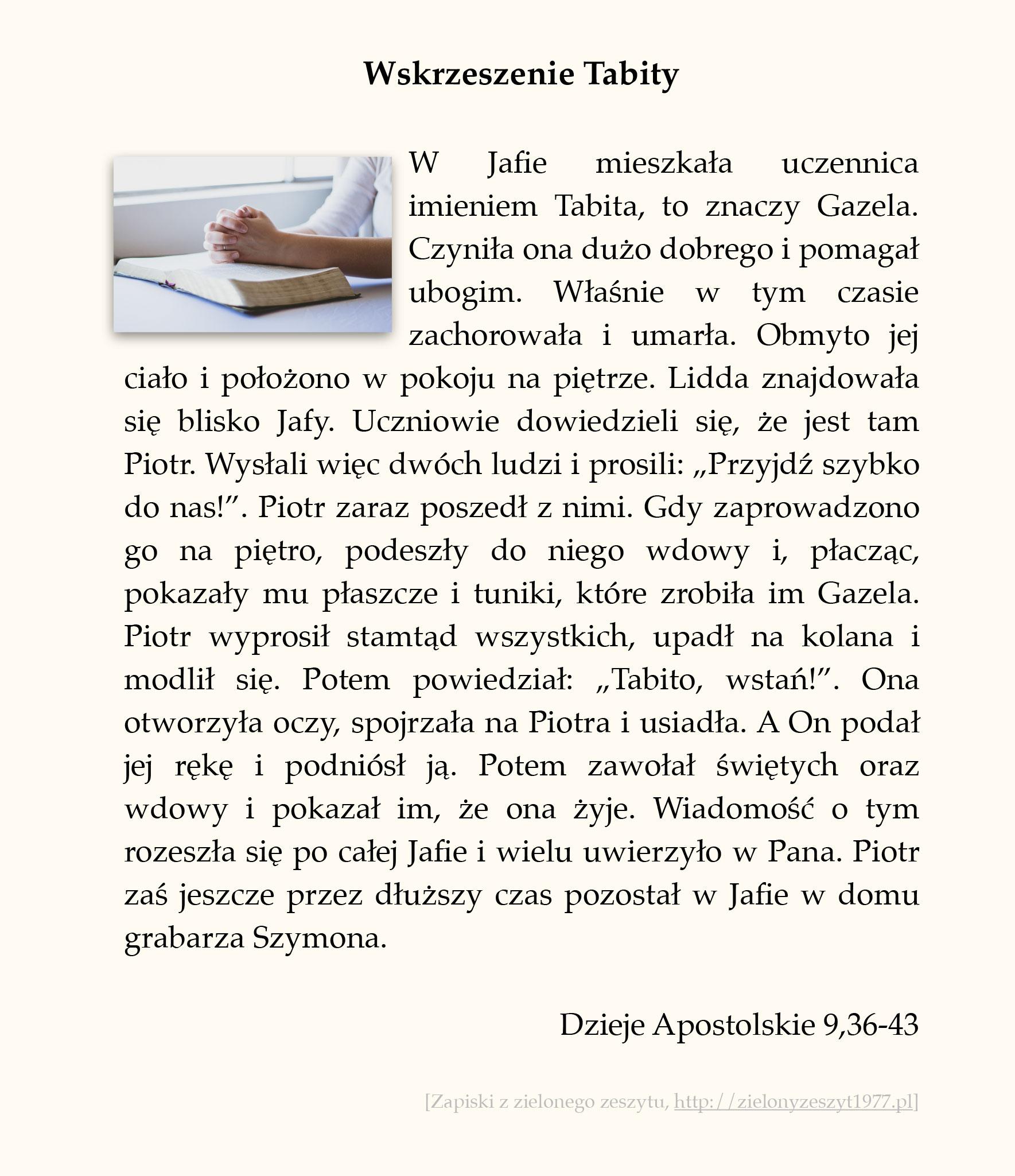 Wskrzeszenie Tabity; Dzieje Apostolskie (#44)