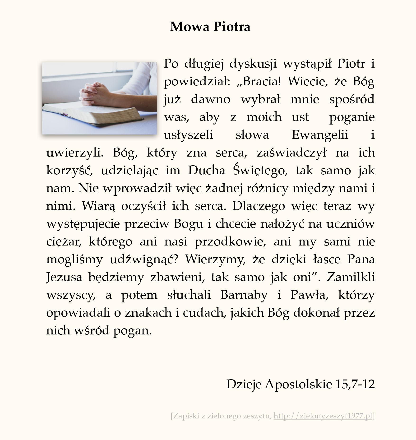 Mowa Piotra; Dzieje Apostolskie (#66)