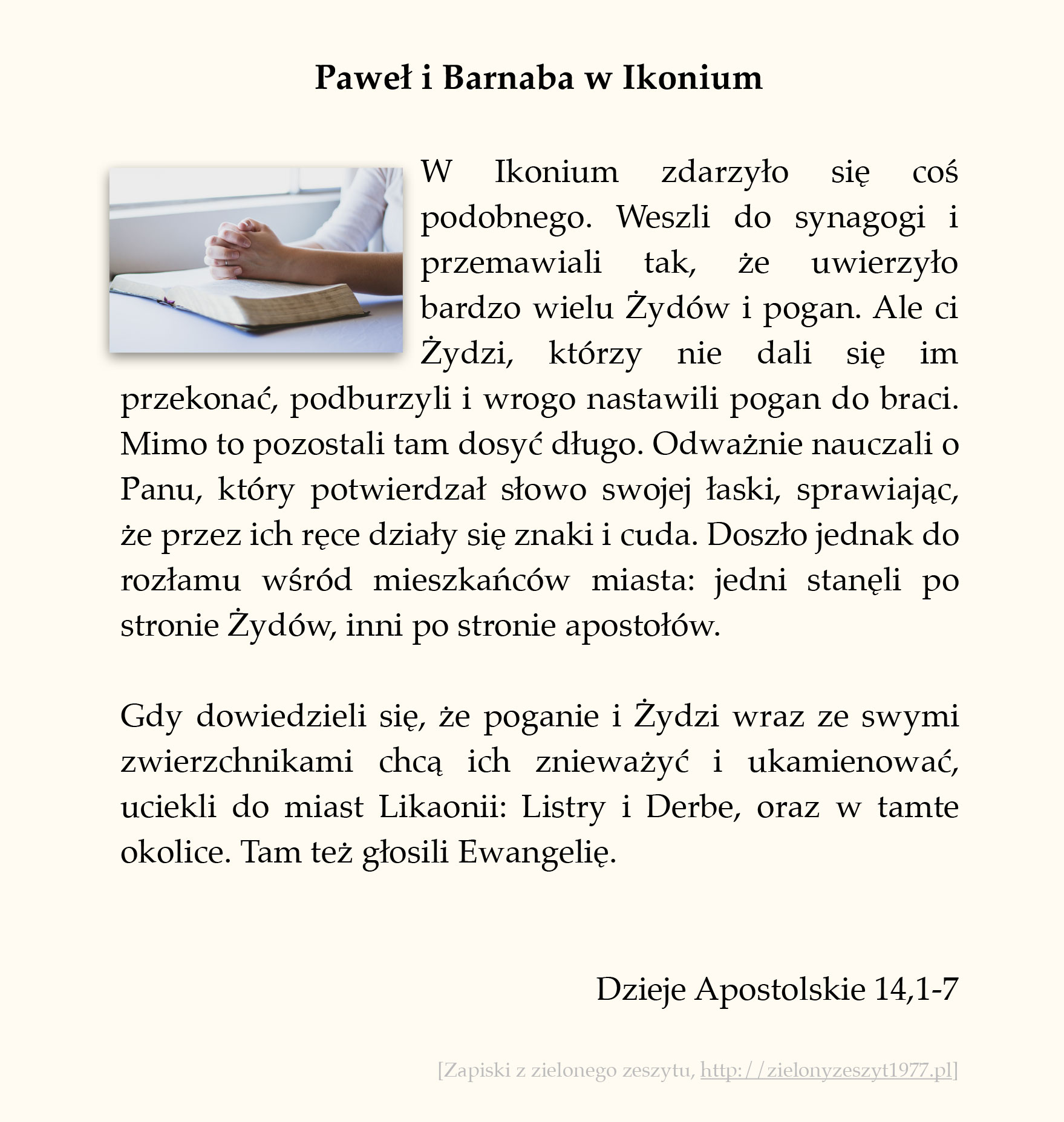 Paweł i Barnaba w Ikonium, Dzieje Apostolskie (#62)