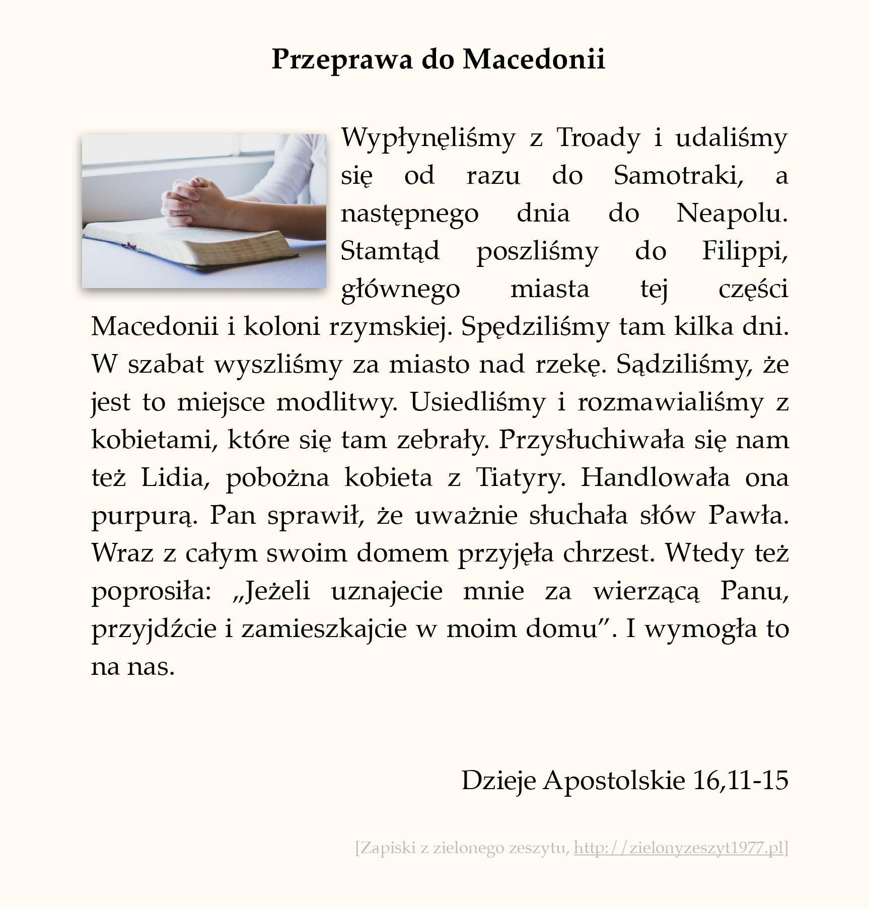 Przeprawa do Macedonii; Dzieje Apostolskie (#72)
