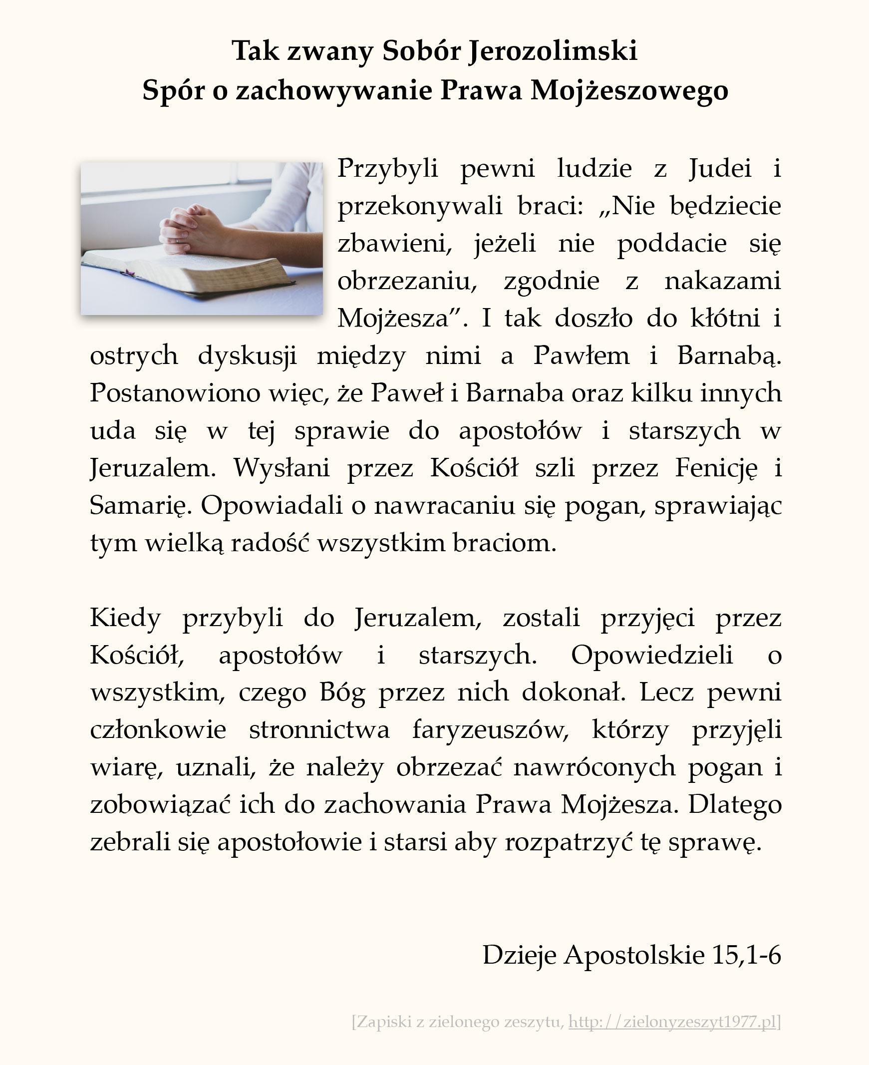 Tak zwany Sobór Jerozolimski - Spór o zachowywanie Prawa Mojżeszowego; Dzieje Apostolskie (#65)