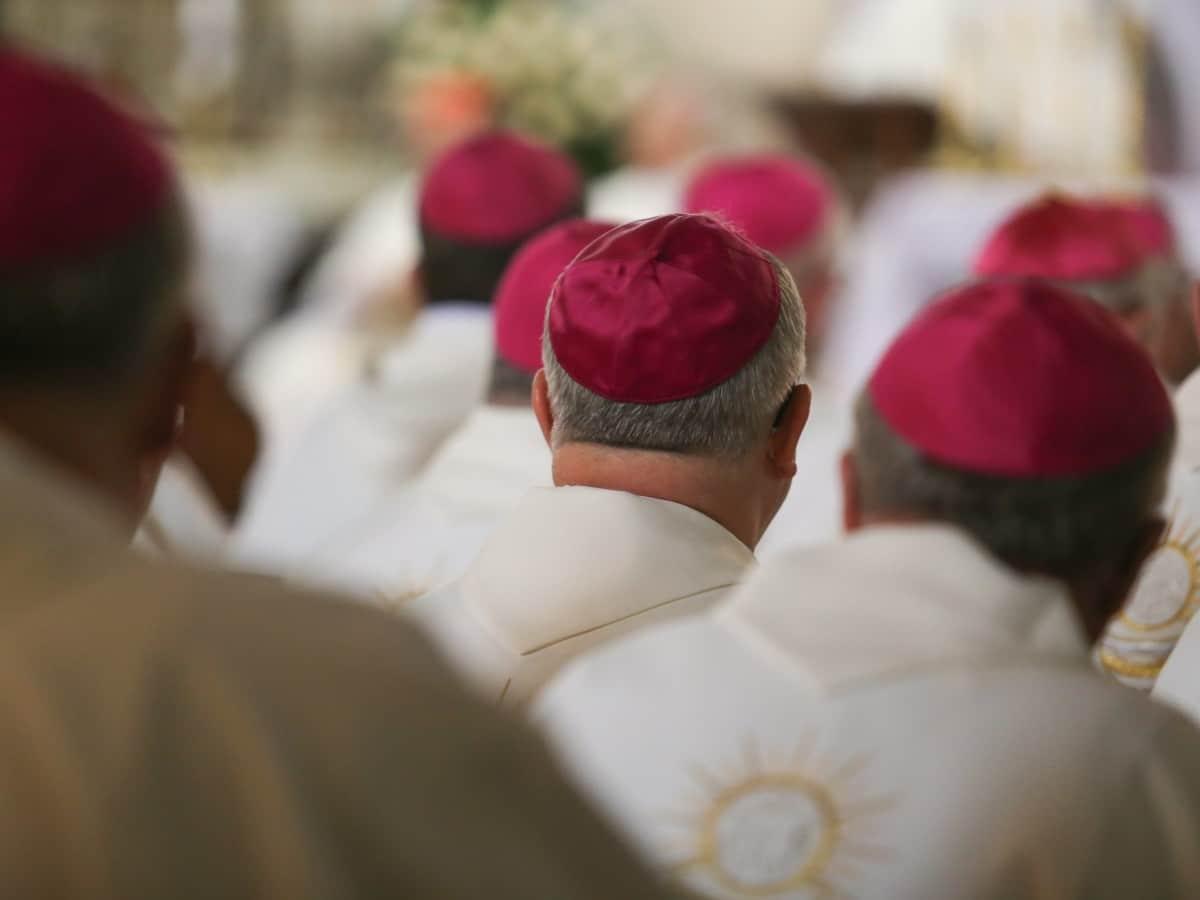Biskupi podczas Mszy św. 13 czerwca 2019 roku w Świdnicy w trakcie 283. zebrania plenarnego KEP. Fot. episkopat.pl
