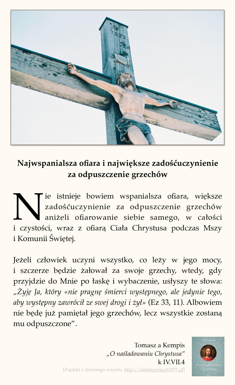 """Tomasz a Kempis, """"O naśladowaniu Chrystusa"""", k II.X.4 (Myśl o sobie jak najniżej, a otrzymasz to co najwyższe)"""