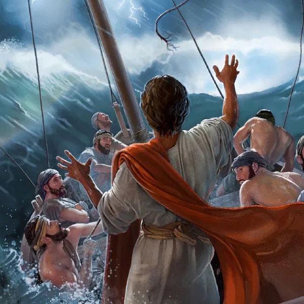 Mk 4, 35-41 Jezus ucisza burzę
